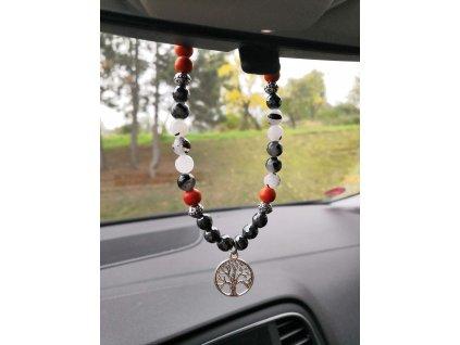 talisman do auta z minerálů, ochrana do auta, strom života