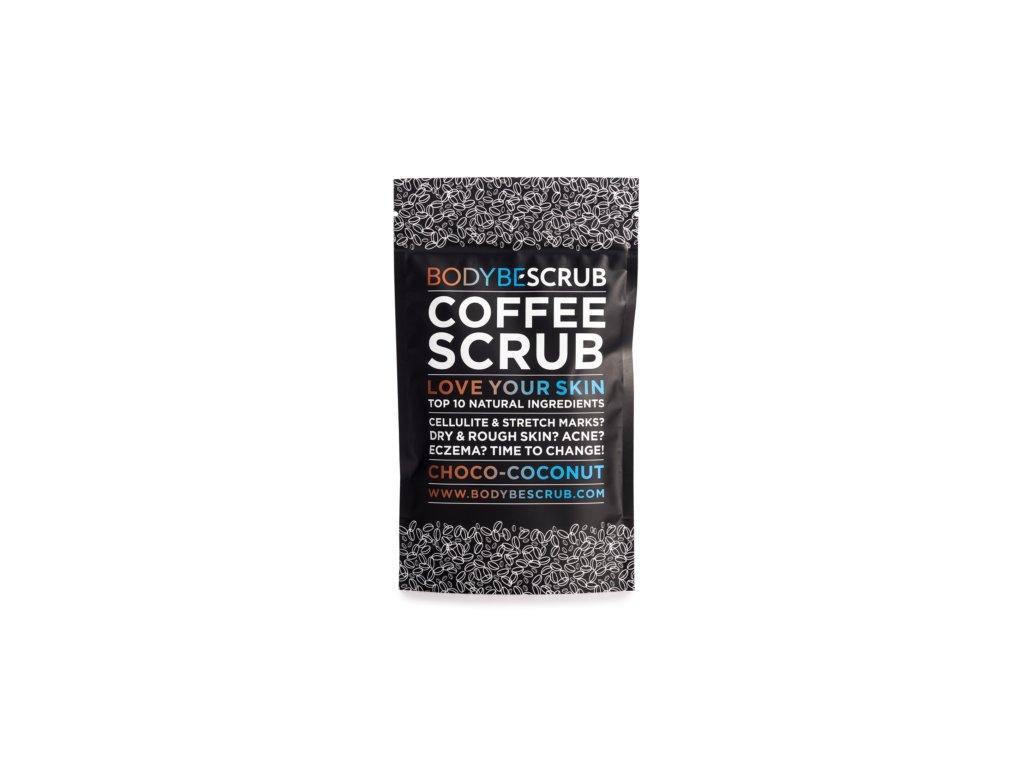 7041 bodybe scrub kávový peeling cokolada s kokosom 100g