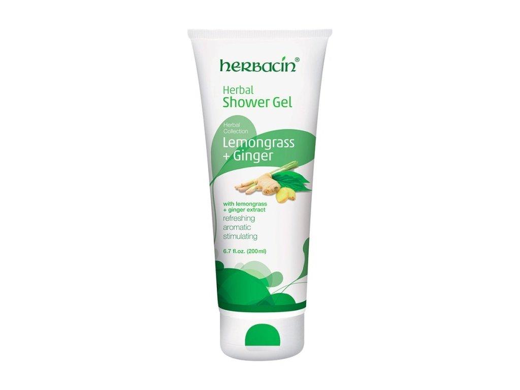 7158 HERBACIN sprchovy gel Bylinný lemongrass ginger