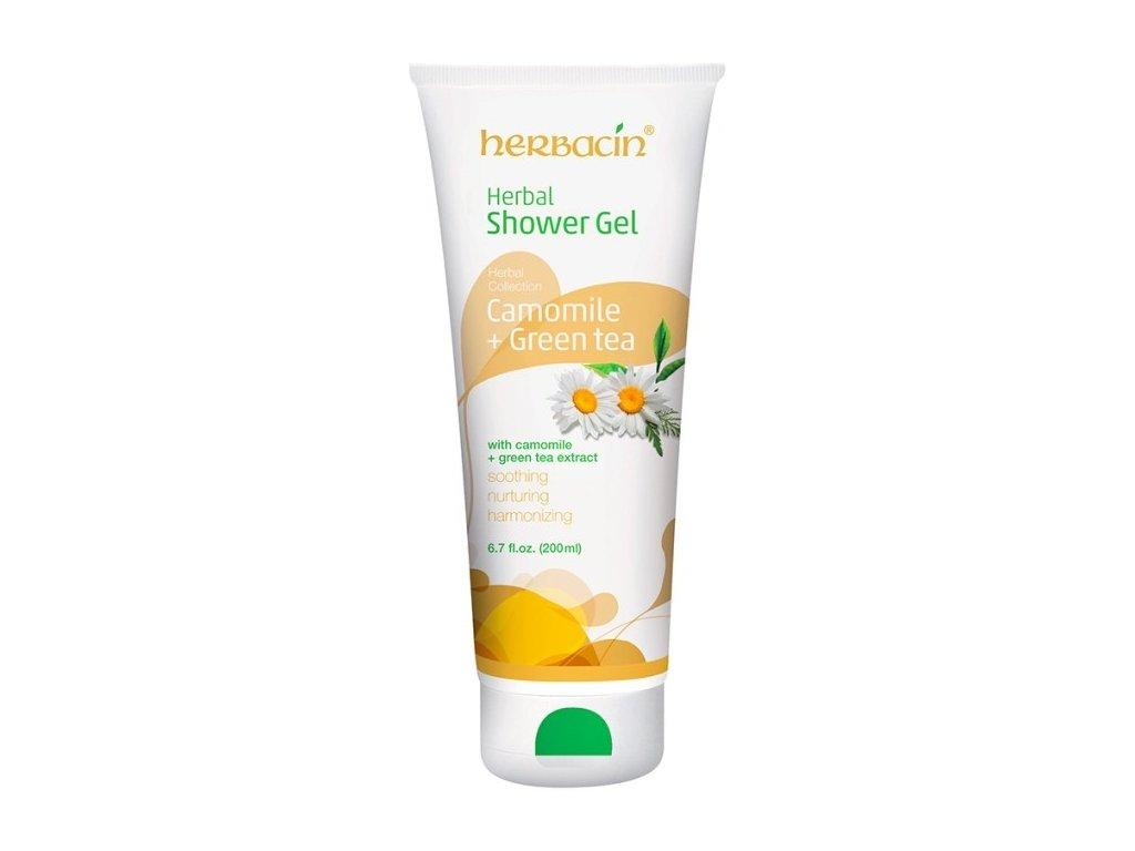 7170 HERBACIN sprchovy gel bylinné camomile green tea