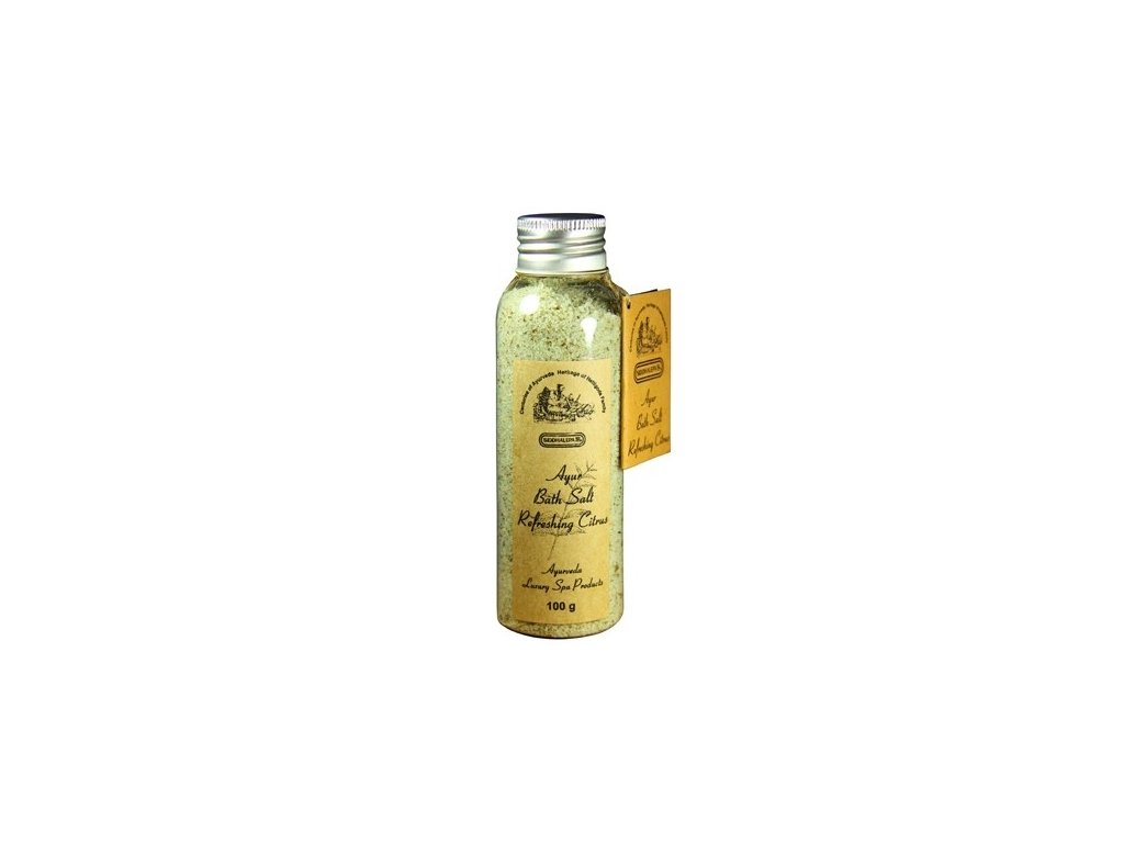 7692 Siddhalepa Ayur kúpeľová soľ refreshing citrus 100 g