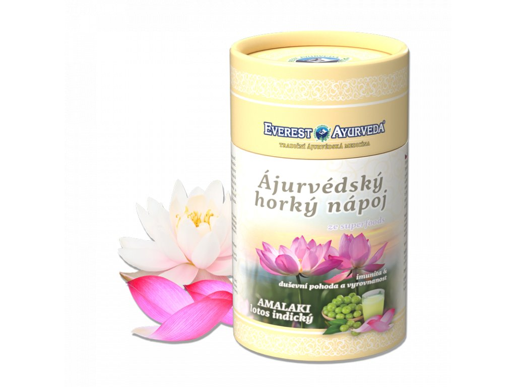 Everest Ayurveda himalájsky horúci nápoj AMALAKI lotos