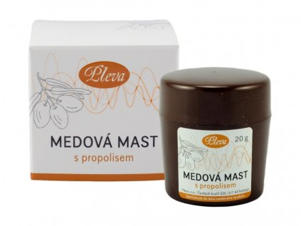 7569 pleva medova masť s propolisom 20 g