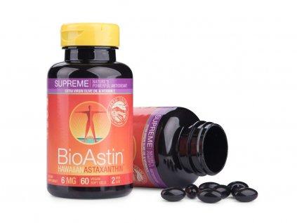 BioAstin Supreme Havajský astaxanthin Vegan