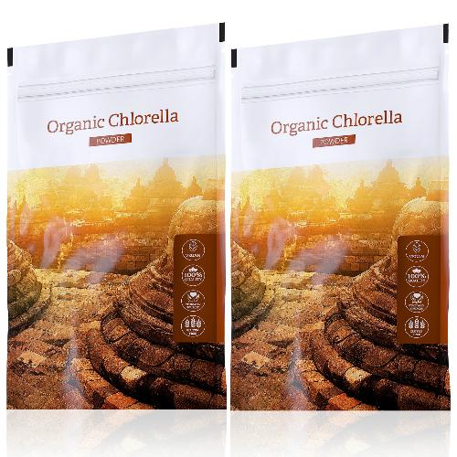 Organic Chlorella powder akční sety
