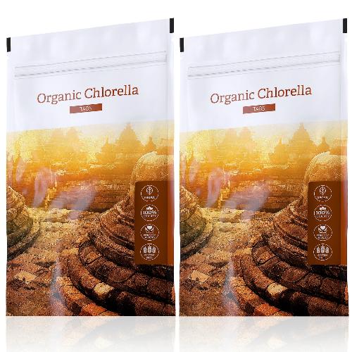 Organic Chlorella tabs akční sety