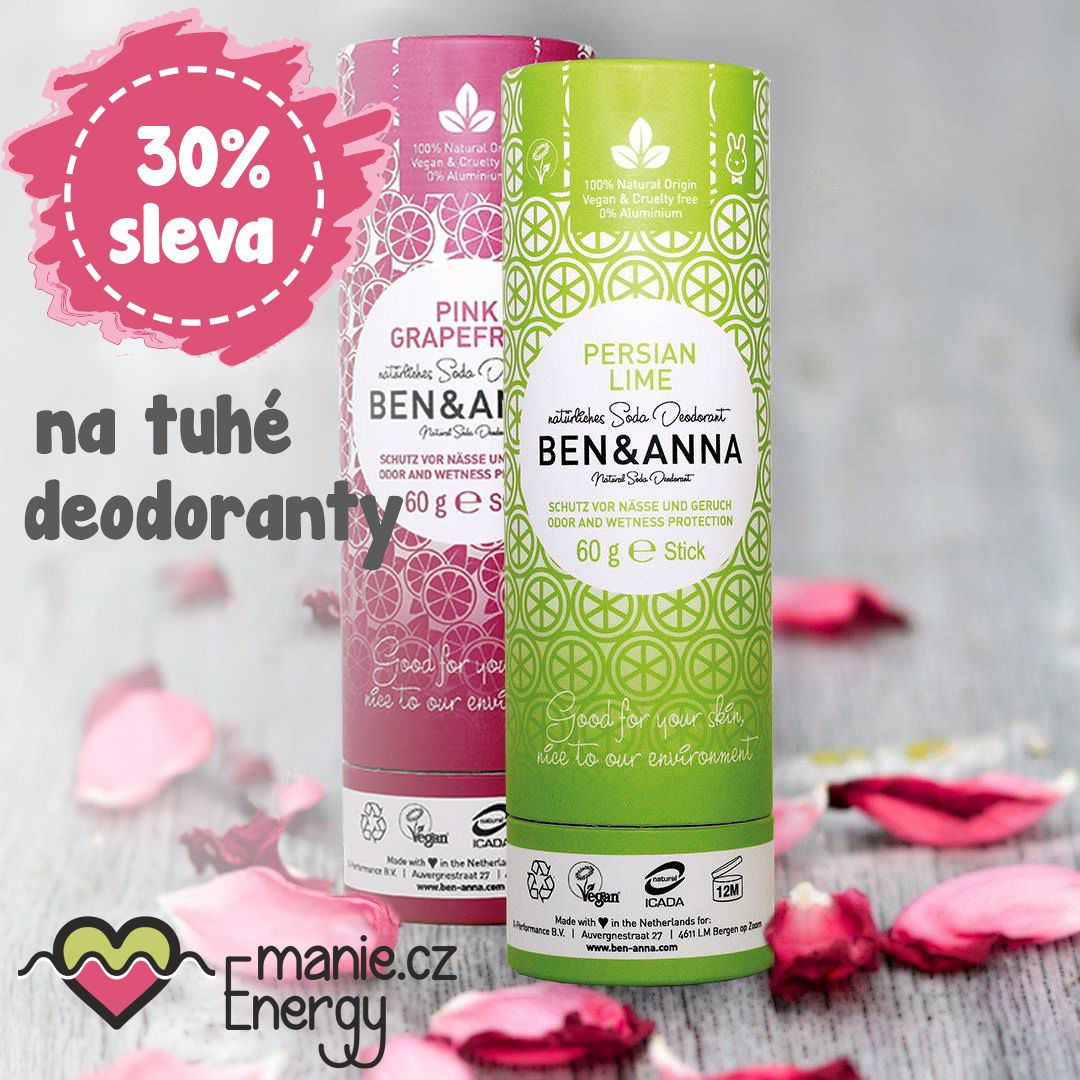 tuhé deodoranty Ben a Anna