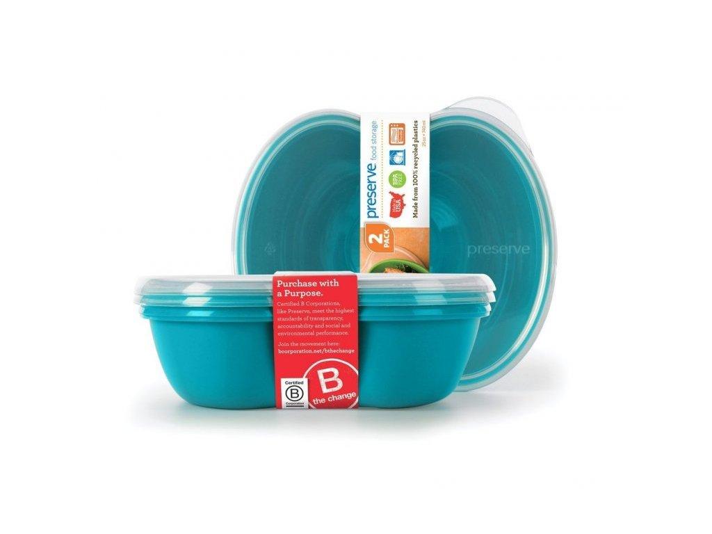Preserve Svačinový box (2 ks) - modrý - ze 100% recyklovaného plastu