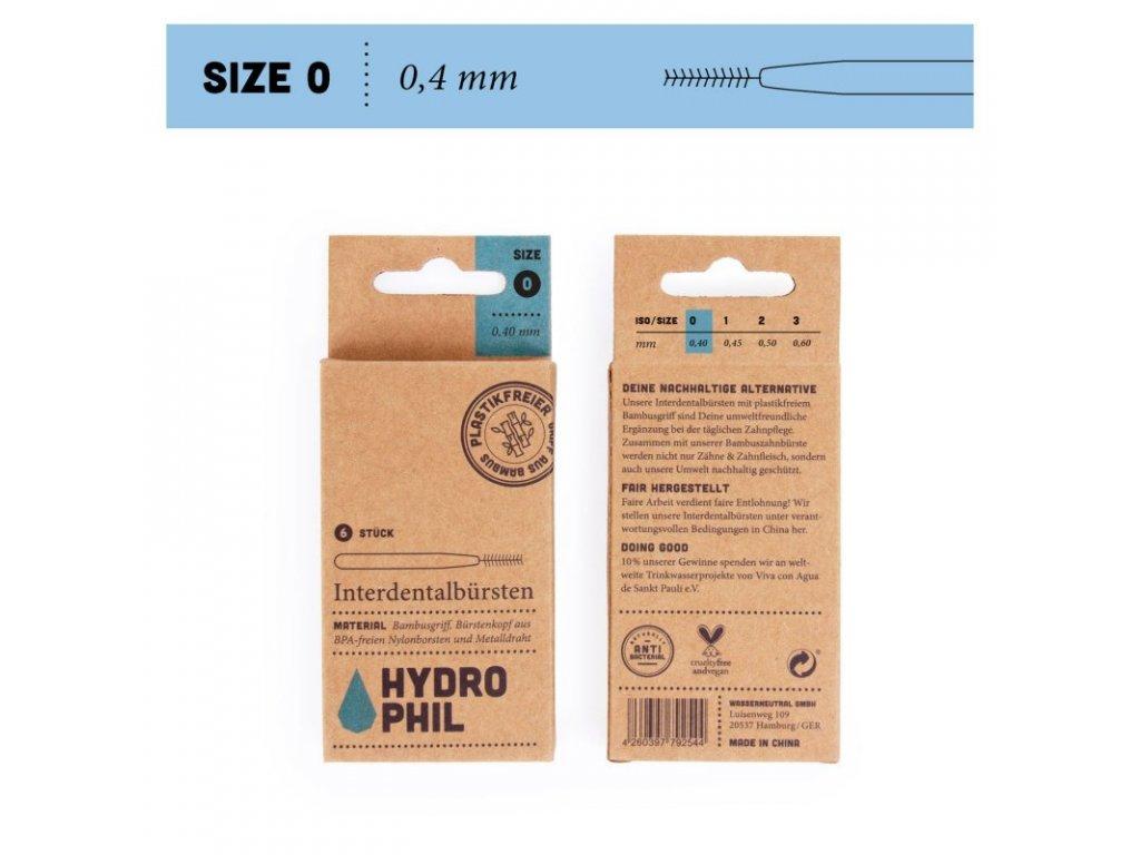 hydrophil mezizubni 40mm Size 0
