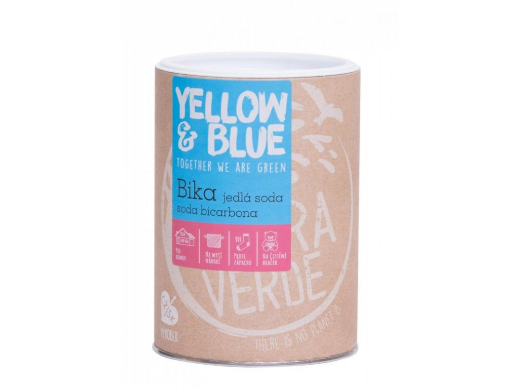 Yellow&Blue BIKA – Jedlá soda (Bikarbona) (dóza 1 kg)