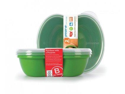 Preserve Svačinový box (2 ks) - zelený - ze 100% recyklovaného plastu