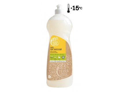 Tierra Verde Gel na nádobí s BIO citronovou silicí (1 l)