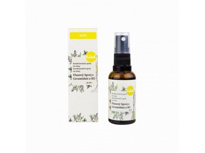 Kvitok Sprej na rozčesání a ochranu vlasů (30 ml) - s ceramidy a provitaminem b5