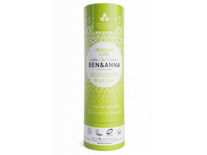 ben anna tuhy deodorant bio 60 g perska limetka nezanechava lepivy pocit v podpazi