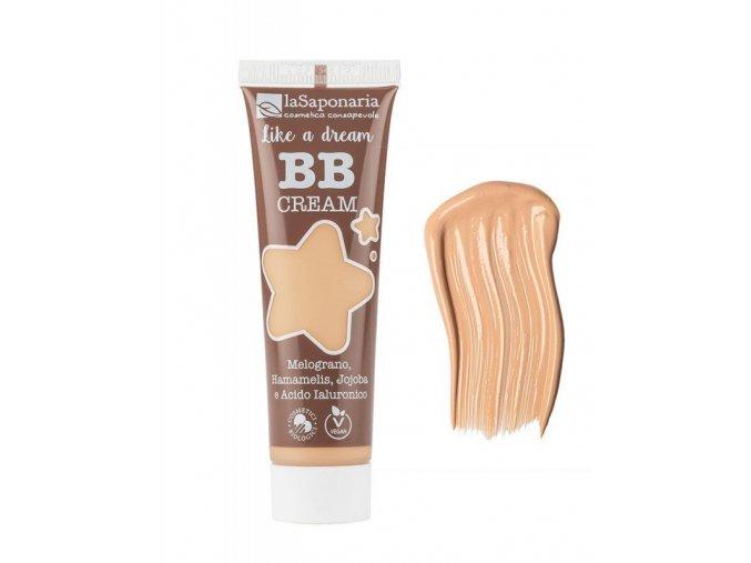 """laSaponaria BB krém """"Jako sen"""" BIO - světlý (30 ml) - lehké krytí s matným finišem"""