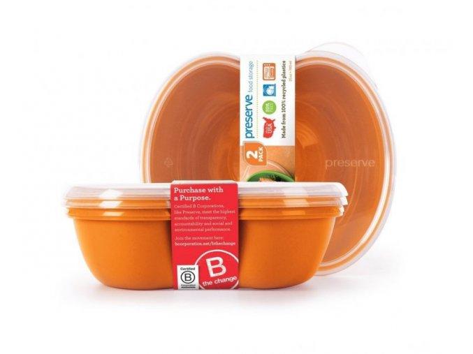 Preserve Svačinový box (2 ks) - oranžový - ze 100% recyklovaného plastu