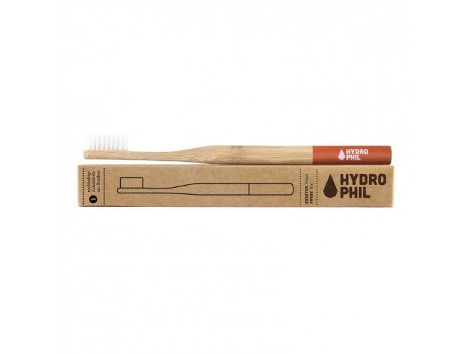 Hydrophil Bambusový kartáček (medium) - červený - 100% z obnovitelných zdrojů