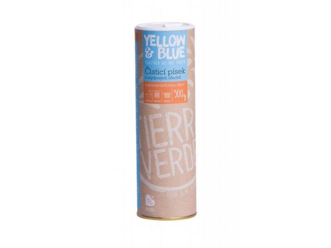 Yellow&Blue Čistící písek (500 g) - s pomerančem