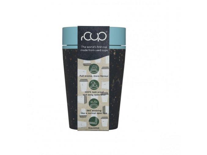 rCUP (227 ml) - černá/tyrkysová - z jednorázových papírových kelímků