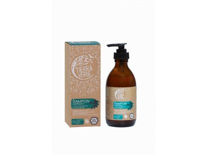 Tierra Verde Kopřivový šampon na mastné vlasy s pomerančem a rozmarýnem (230 ml)