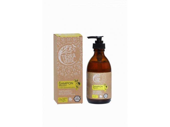 Tierra Verde Březový šampon na suché vlasy s citrónovou trávou (230 ml)