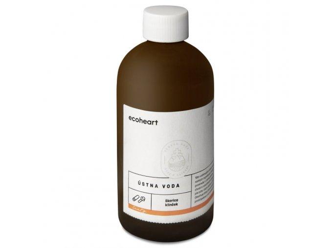 Ecoheart Ústní voda Hřebíček a skořice (300 ml) - ve skleněné lahvi