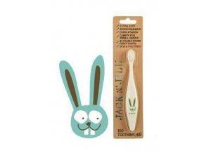 Jack n' Jill Dětský zubní kartáček Zajíček - z kukuřičného škrobu