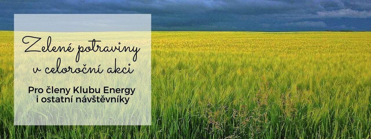 Zelené potraviny od Energy v celoroční akci