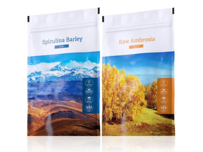 Raw Ambrosia pieces a Spirulina Barley od Energy