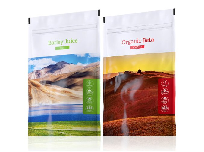 Barley Juice tabs a Organic Beta powder od Energy