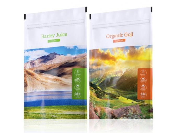 Organic Barley Juice tabs a Organic Goji powder od Energy