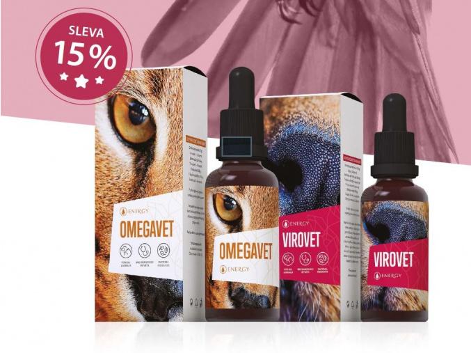 Veterinární přípravky Energyvet - Virovet a Omegavet
