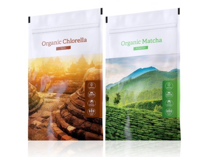 Organic Chlorella a Matcha powder od Energy