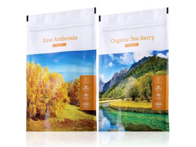 Raw Ambrosia pieces a Organic Sea Berry powder od Energy