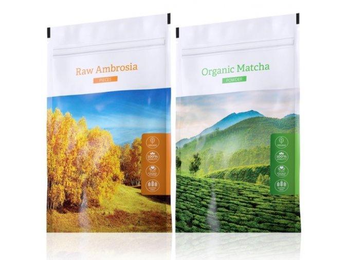 Raw Ambrosia pieces a Organic Matcha powder od Energy