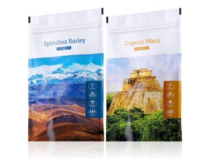 Spirulina Barley a Organic Maca tabs od Energy