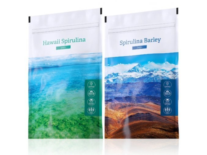 Spirulina Barley a Hawaii Spirulina tabs od Energy