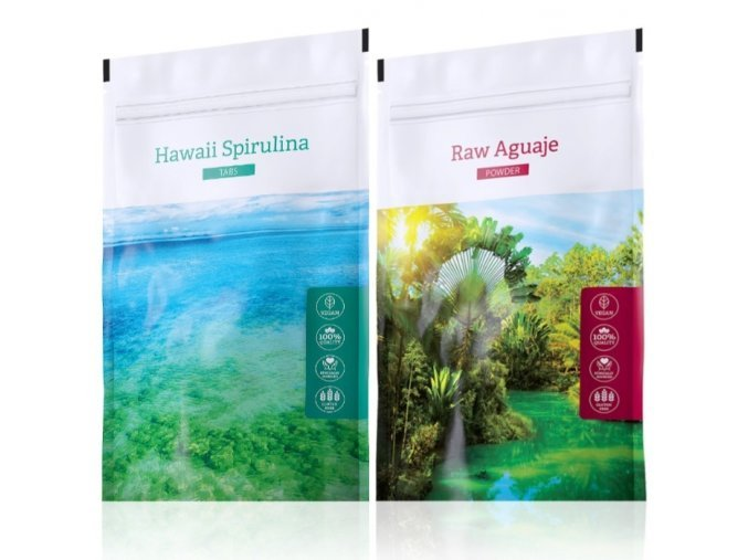 Hawaii Spirulina tabs a Raw Aguaje tabs od Energy