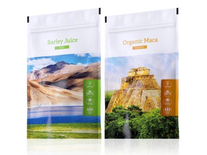 Barley Juice tabs a Organic Maca tabs od Energy