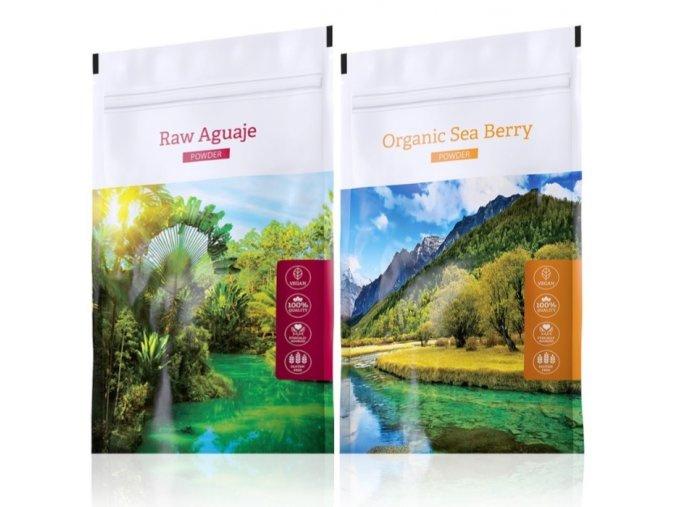 Organic Sea Berry powder a Raw Aguaje tabs od Energy