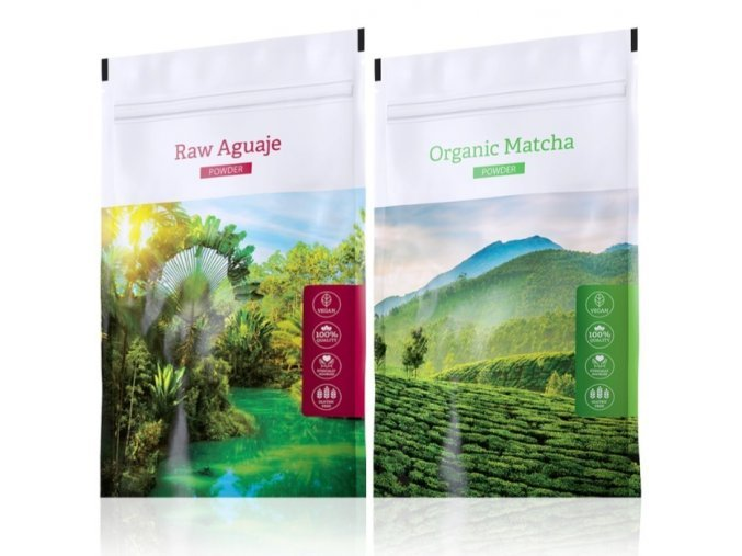 Organic Matcha powder a Raw Aguaje tabs od Energy