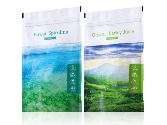 Barley Juice powder a Hawaii Spirulina tabs od Energy