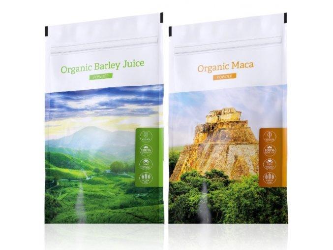 Barley Juice powder a Organic Maca tabs od Energy