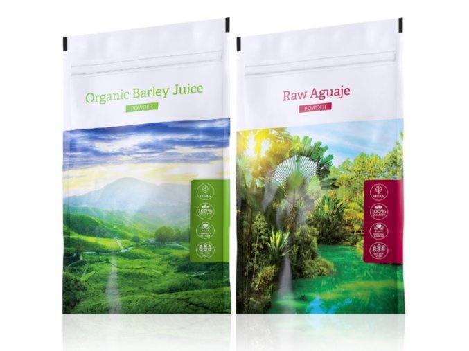 Barley Juice powder a Raw Aguaje tabs od Energy