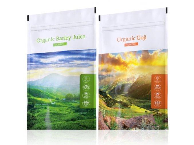 Organic Barley Juice powder a Organic Goji powder od Energy