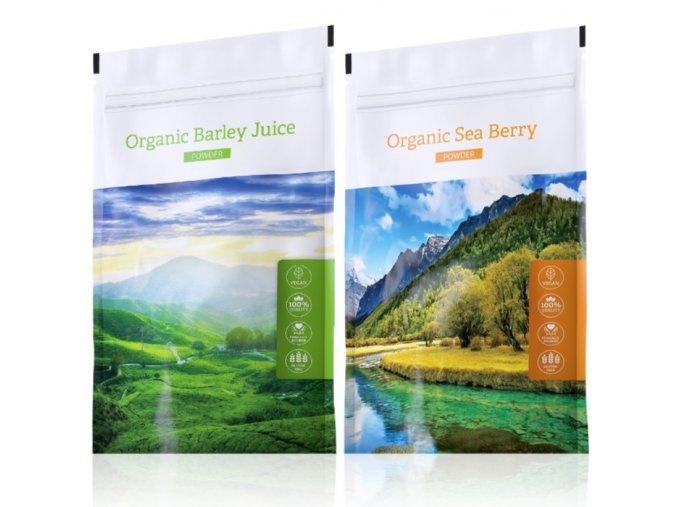 Barley Juice powder a Organic Sea Berry powder od Energy