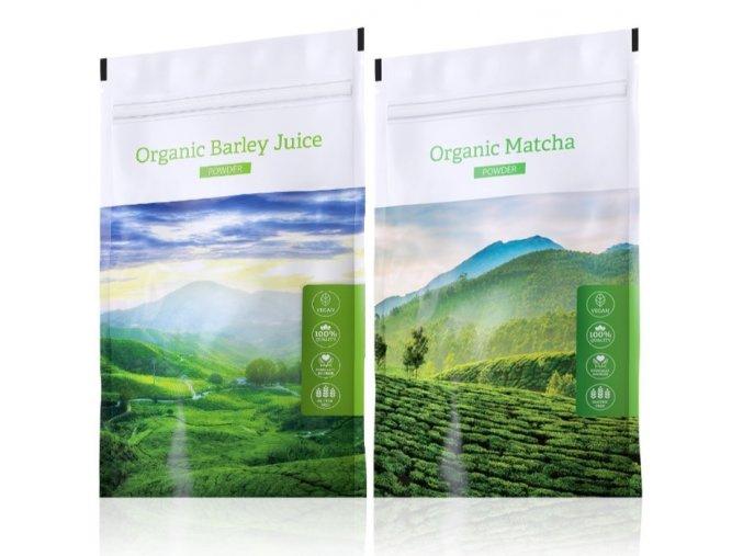 Barley Juice powder a Organic Matcha powder od Energy