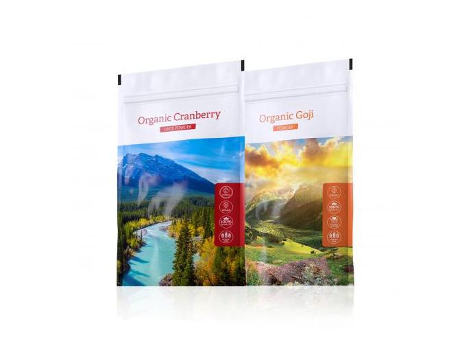 Organic Cranberry powder a Organic Goji powder od Energy