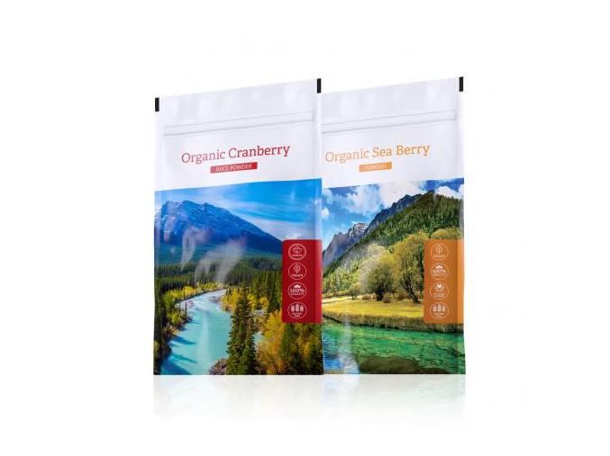 Organic Sea Berry powder a Cranberry juice powder od Energy
