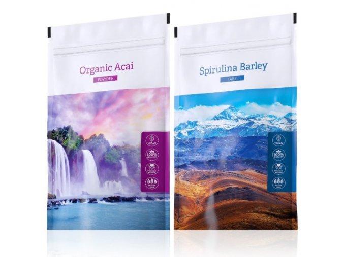 Organic Acai powder a Spirulina Barley od Energy